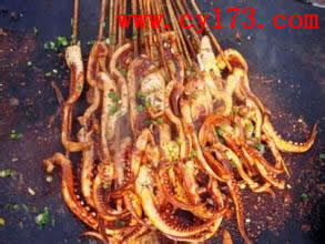 铁板鱿鱼的做法,大连铁板鱿鱼技术工艺,铁板鱿鱼酱料配方